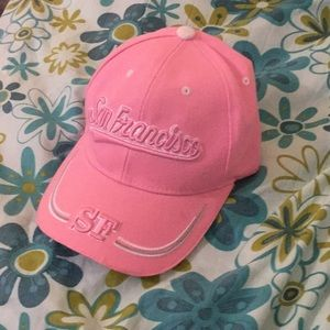 Accessories - Baseball Cap - Pink SF San Francisco Embroidered